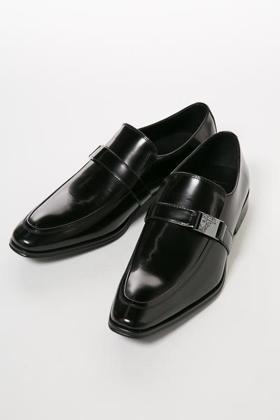 ヴェルサーチコレクション VERSACE COLLECTION シューズ レザーシューズ 革靴 ローファー メンズ V90323S VM00029 ブラック 送料無料