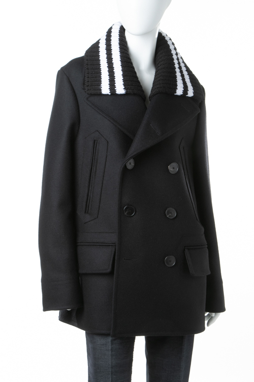 ジバンシー ジバンシィ GIVENCHY コート Pコート ピーコート レディース G17A0021 049 ブラック 送料無料
