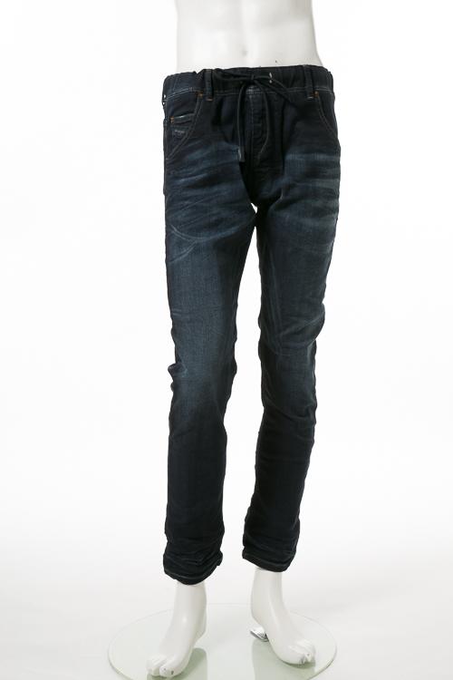 ディーゼル DIESEL ジーンズパンツ デニム JOGGJEANS ジョグジーンズ ジョガーパンツ KROOLEY-NE Sweat jeans メンズ 00CYKI 0676D ブルー 送料無料 楽ギフ_包装 【ラッキーシール対応】