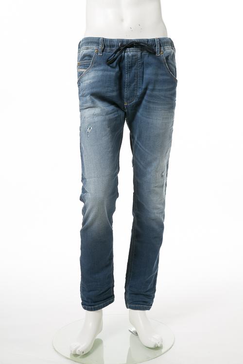 ディーゼル DIESEL ジーンズパンツ デニム JOGGJEANS ジョグジーンズ ジョガーパンツ KROOLEY-NE Sweat jeans メンズ 00CYKI 0678M ブルー 送料無料 楽ギフ_包装 【ラッキーシール対応】