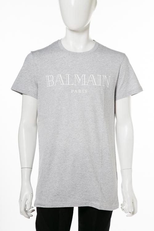 バルマン BALMAIN Tシャツ 半袖 丸首 クルーネック W8H8601 I260 170 メンズ W8H 8601 I260 グレー 送料無料 楽ギフ_包装 2018年秋冬新作 【ラッキーシール対応】