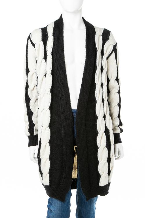 バルマン BALMAIN セーター ニット カーディガン メンズ W8H 6300 M254 ブラック×ホワイト 送料無料 2018年秋冬新作 2018AWセール