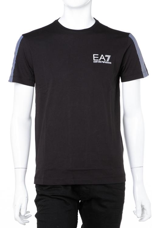 アルマーニ エンポリオアルマーニ Emporio Armani EA7 Tシャツ 半袖 丸首 クルーネック メンズ 6ZPT16 PJ02Z ブラック 送料無料 楽ギフ_包装 ラッキーシール対応