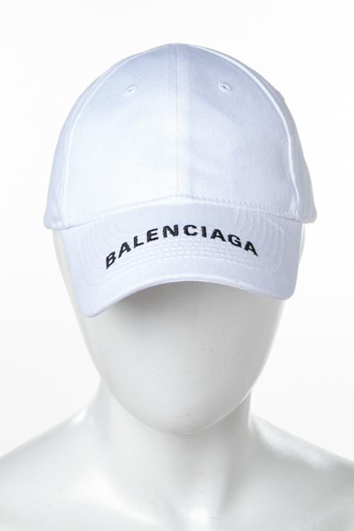 バレンシアガ BALENCIAGA キャップ ベースボールキャップ 帽子 531588 410B7 ホワイト 送料無料 楽ギフ_包装 2018年秋冬新作 【ラッキーシール対応】