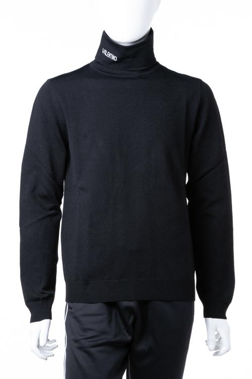 ヴァレンティノ Valentino セーター ニット 長袖 タートルネック メンズ QV3KC27D550 ブラック 送料無料 楽ギフ_包装 ラッキーシール対応 2018年秋冬新作