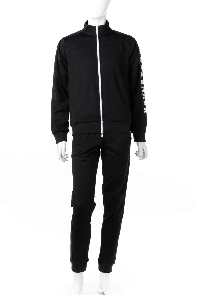 ポールアンドシャーク PAUL&SHARK スーツ セットアップジャージ メンズ A18P1808 ブラック 送料無料 ラッキーシール対応 2018年秋冬新作