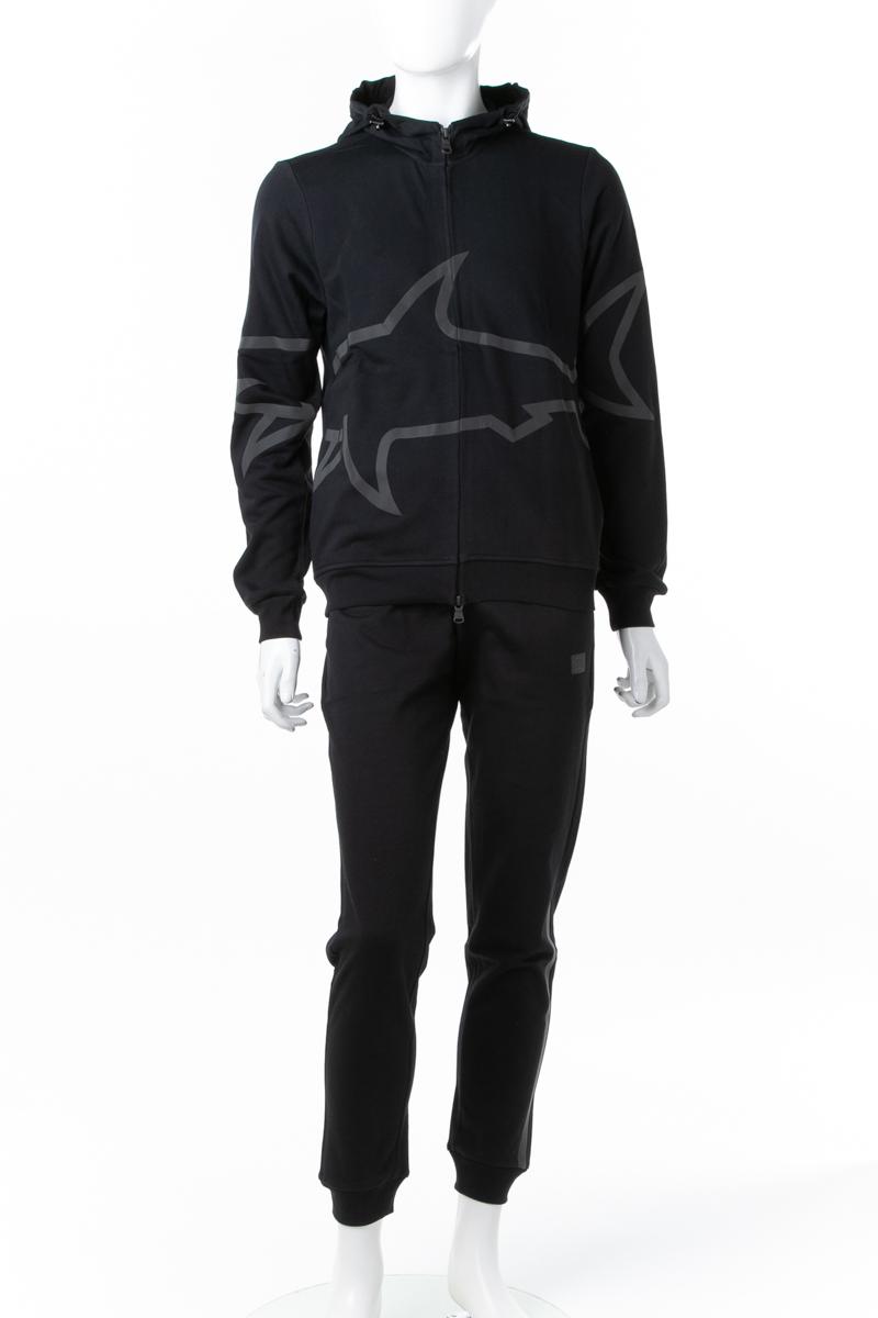 ポールアンドシャーク PAUL&SHARK スーツ セットアップジャージ ジップアップパーカー メンズ A18P1922 ブラック 送料無料 ラッキーシール対応 2018年秋冬新作