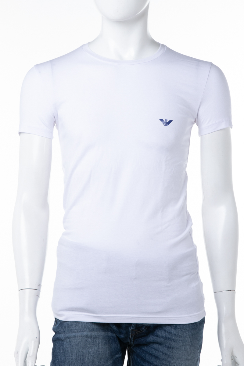 online for sale reliable quality wholesale 111035 Armani Emporio Armani Emporio Armani T-shirt underwear T-shirt short  sleeves round neck crew neck men 8A725 white easy ギフ _ packing