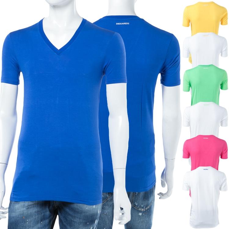 ディースクエアード DSQUARED2 Tシャツアンダーウェア Tシャツ 半袖 Vネック メンズ D9M450590 楽ギフ_包装 【ラッキーシール対応】