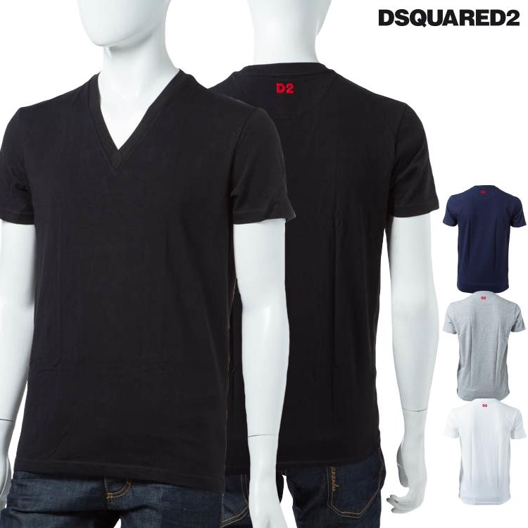 ディースクエアード DSQUARED2 Tシャツアンダーウェア Tシャツ 半袖 Vネック メンズ D9M450890 DSQ限定特価 【ラッキーシール対応】