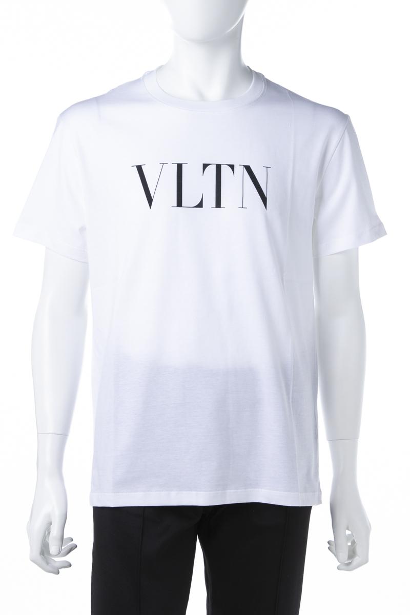 ヴァレンティノ Valentino Tシャツ 半袖 丸首 クルーネック メンズ RV3MG10V3LE ホワイト×ブラック 送料無料 楽ギフ_包装 2019年春夏新作 【ラッキーシール対応】