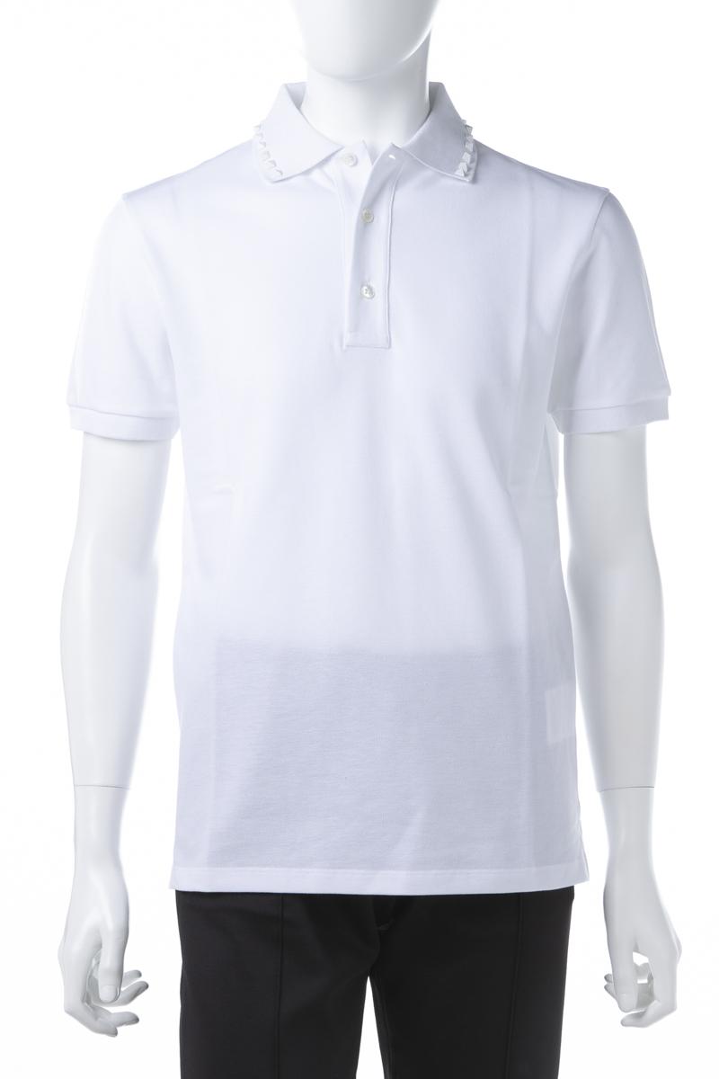 ヴァレンティノ Valentino ポロシャツ 半袖 メンズ RV3MH00CLEX ホワイト 送料無料 楽ギフ_包装 2019年春夏新作 【ラッキーシール対応】