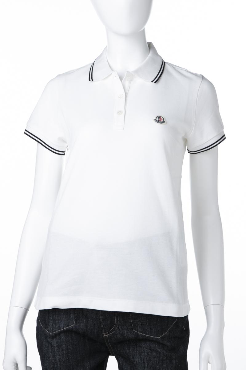 モンクレール MONCLER ポロシャツ 半袖 レディース 8386000 84667 アイボリー 送料無料 楽ギフ_包装 【ラッキーシール対応】