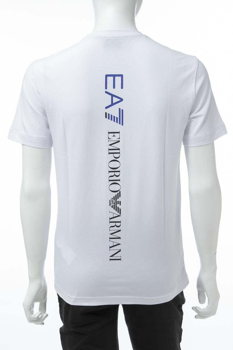 アルマーニ エンポリオアルマーニ Emporio Armani EA7 Tシャツ 半袖 丸首 クルーネック メンズ 3GPT08 PJ03Z ホワイト 送料無料 楽ギフ_包装 【ラッキーシール対応】
