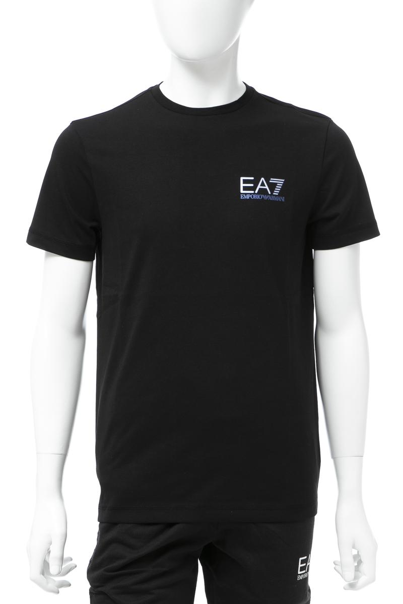 アルマーニ エンポリオアルマーニ Emporio Armani EA7 Tシャツ 半袖 丸首 クルーネック メンズ 3GPT49 PJJ6Z ブラック 送料無料 楽ギフ_包装 【ラッキーシール対応】
