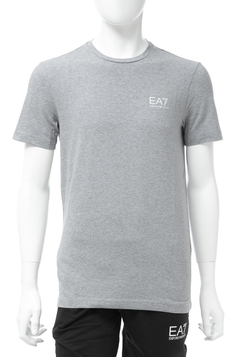 アルマーニ エンポリオアルマーニ Emporio Armani EA7 Tシャツ 半袖 丸首 クルーネック メンズ 3GPT52 PJM5Z グレー 送料無料 楽ギフ_包装 【ラッキーシール対応】