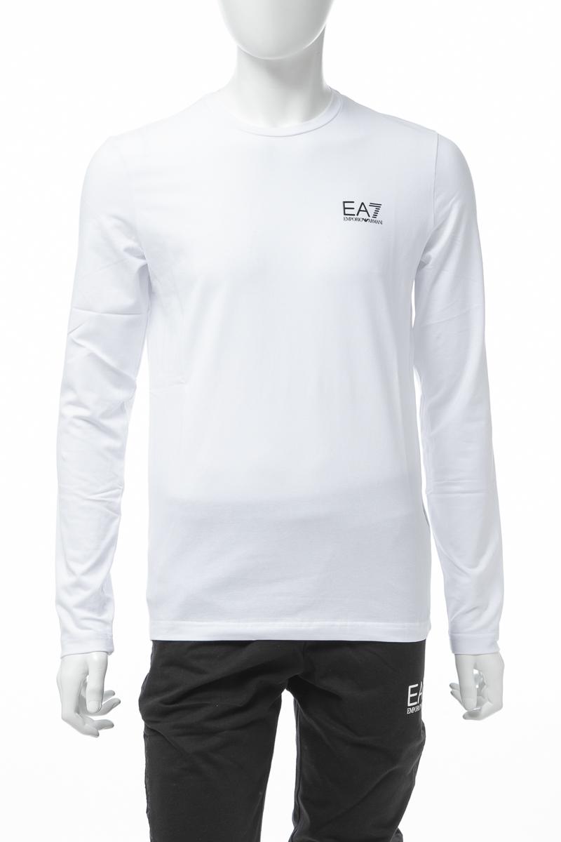 アルマーニ エンポリオアルマーニ Emporio Armani EA7 ロングTシャツ ロンT 長袖 丸首 クルーネック メンズ 3GPT55 PJM5Z ホワイト 送料無料 楽ギフ_包装 【ラッキーシール対応】