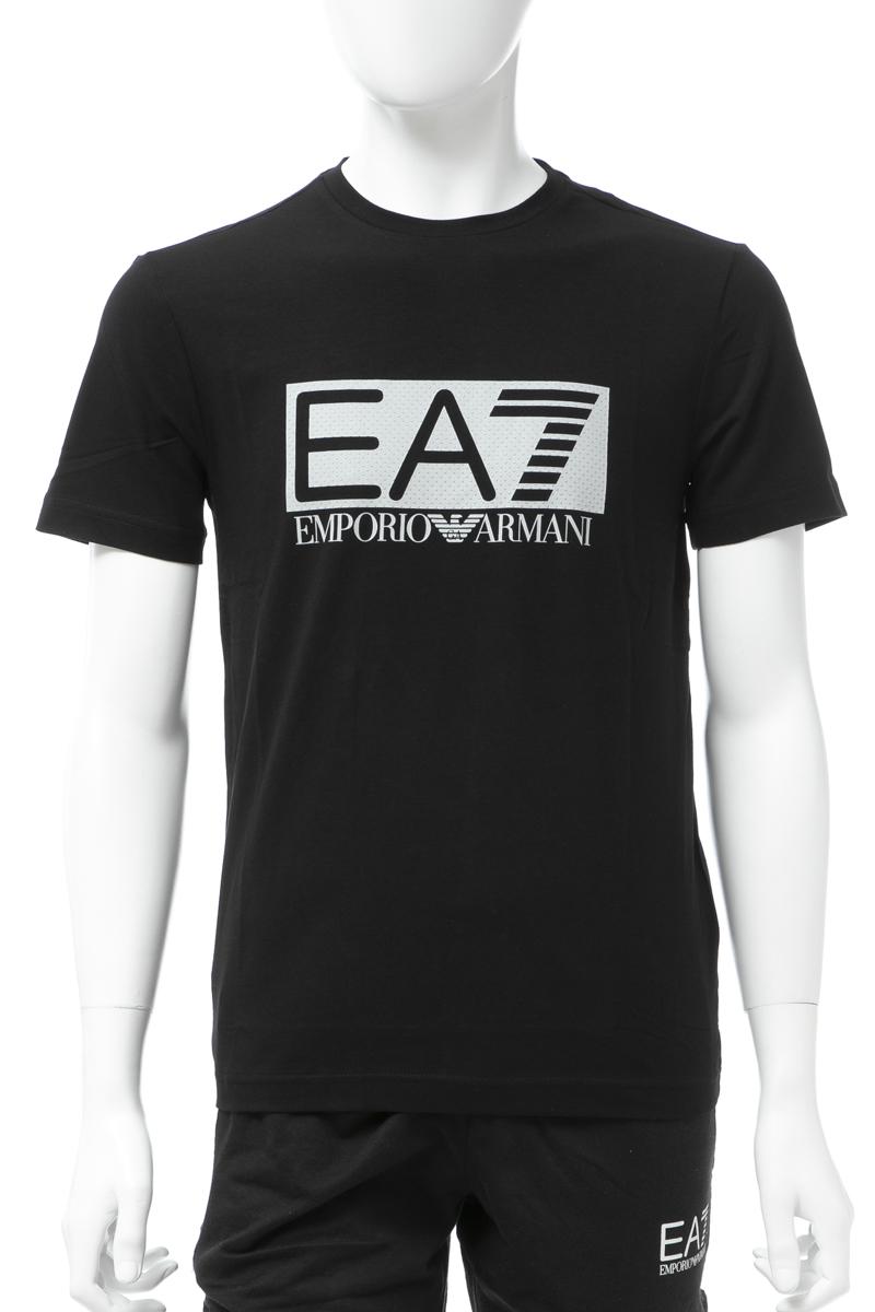 アルマーニ エンポリオアルマーニ Emporio Armani EA7 Tシャツ 半袖 丸首 クルーネック メンズ 3GPT62 PJ03Z ブラック 送料無料 楽ギフ_包装 【ラッキーシール対応】
