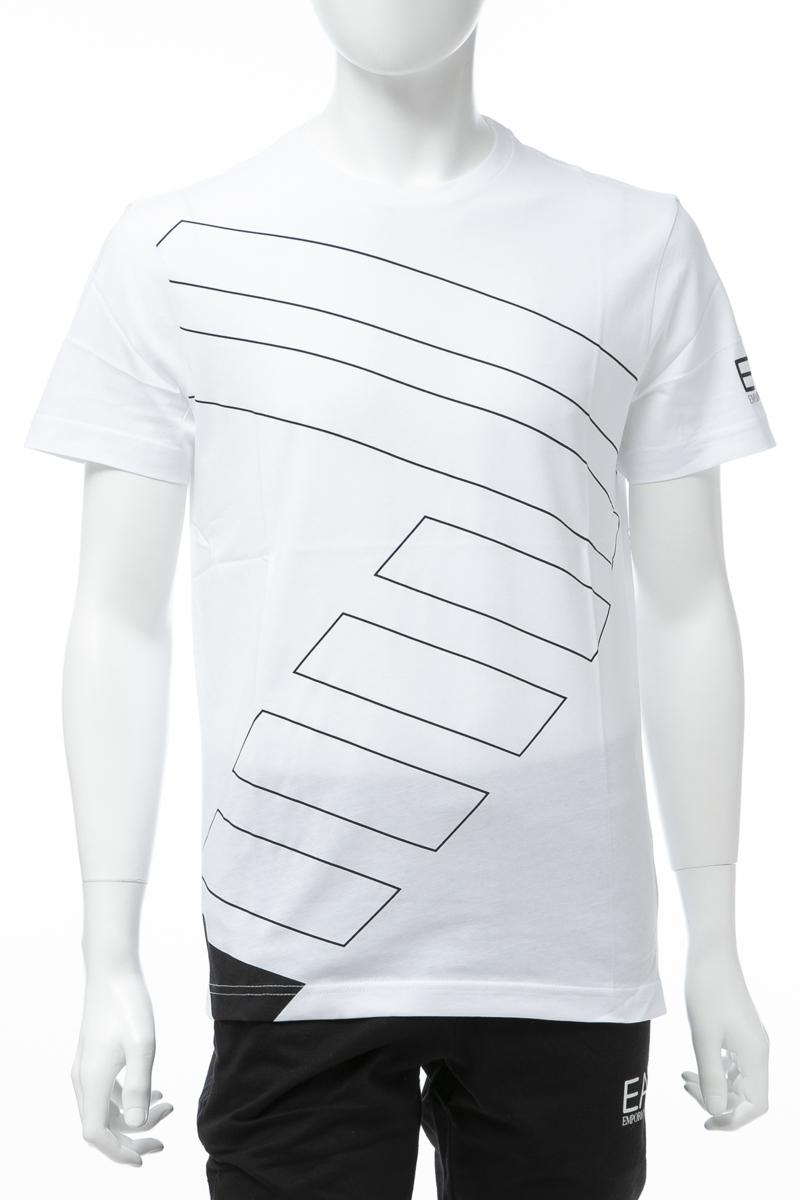 アルマーニ エンポリオアルマーニ Emporio Armani EA7 Tシャツ 半袖 丸首 クルーネック メンズ 3GPT19 PJV5Z ホワイト 送料無料 楽ギフ_包装 【ラッキーシール対応】