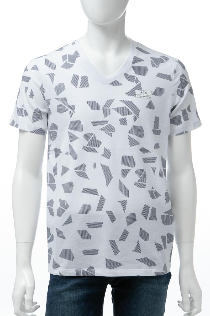 アルマーニ エクスチェンジ ARMANI EXCHANGE Tシャツ 半袖 Vネック メンズ 3GZTGK ZJV5Z ホワイト 送料無料 楽ギフ_包装 【ラッキーシール対応】