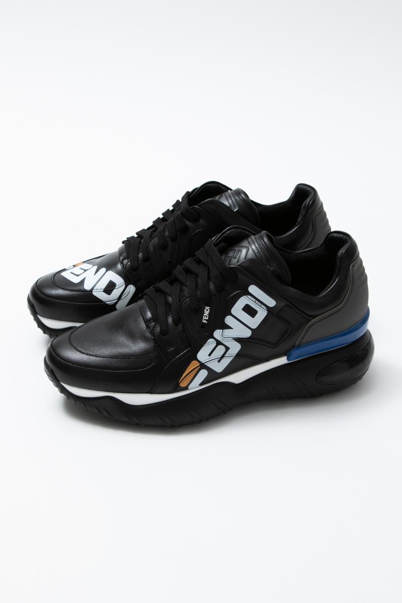 フェンディー FENDI スニーカー ローカット シューズ 靴 メンズ 7E1199 A62E ブラック 送料無料 2019年春夏新作