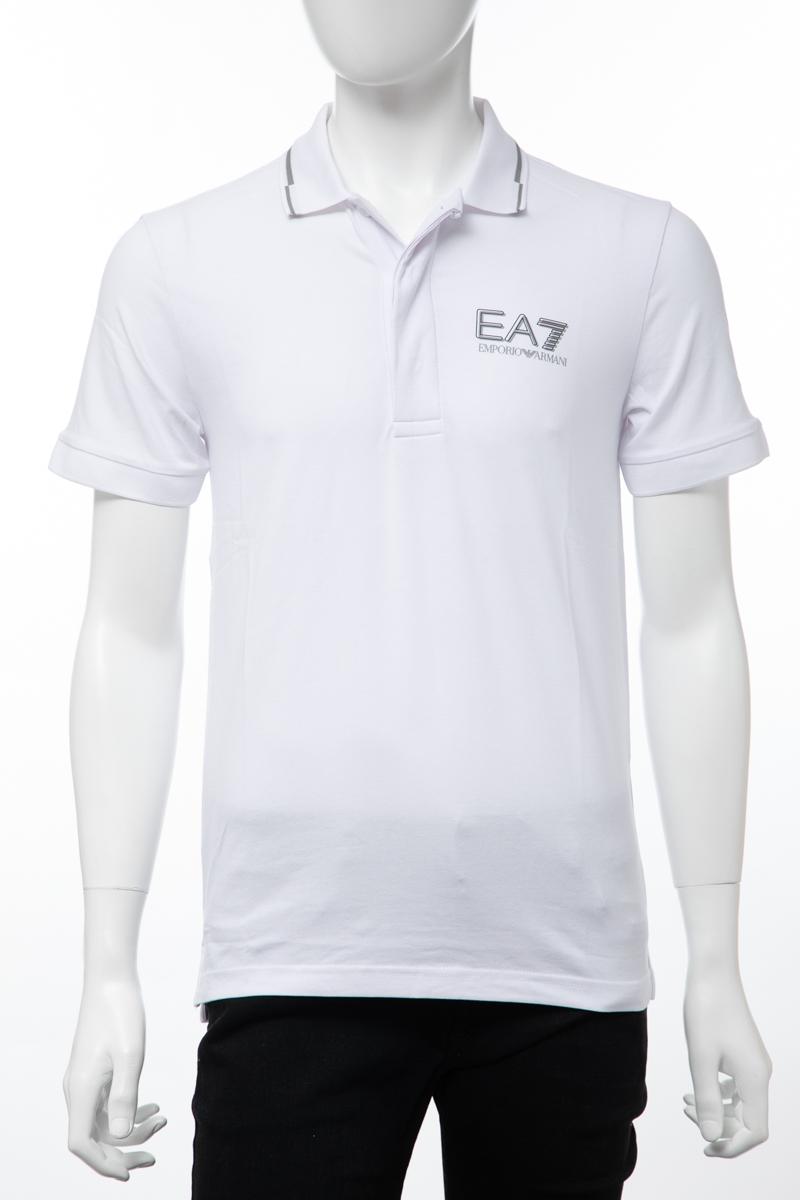 アルマーニ エンポリオアルマーニ Emporio Armani EA7 ポロシャツ 半袖 メンズ 3GPF55 PJ03Z ホワイト 送料無料 楽ギフ_包装 【ラッキーシール対応】