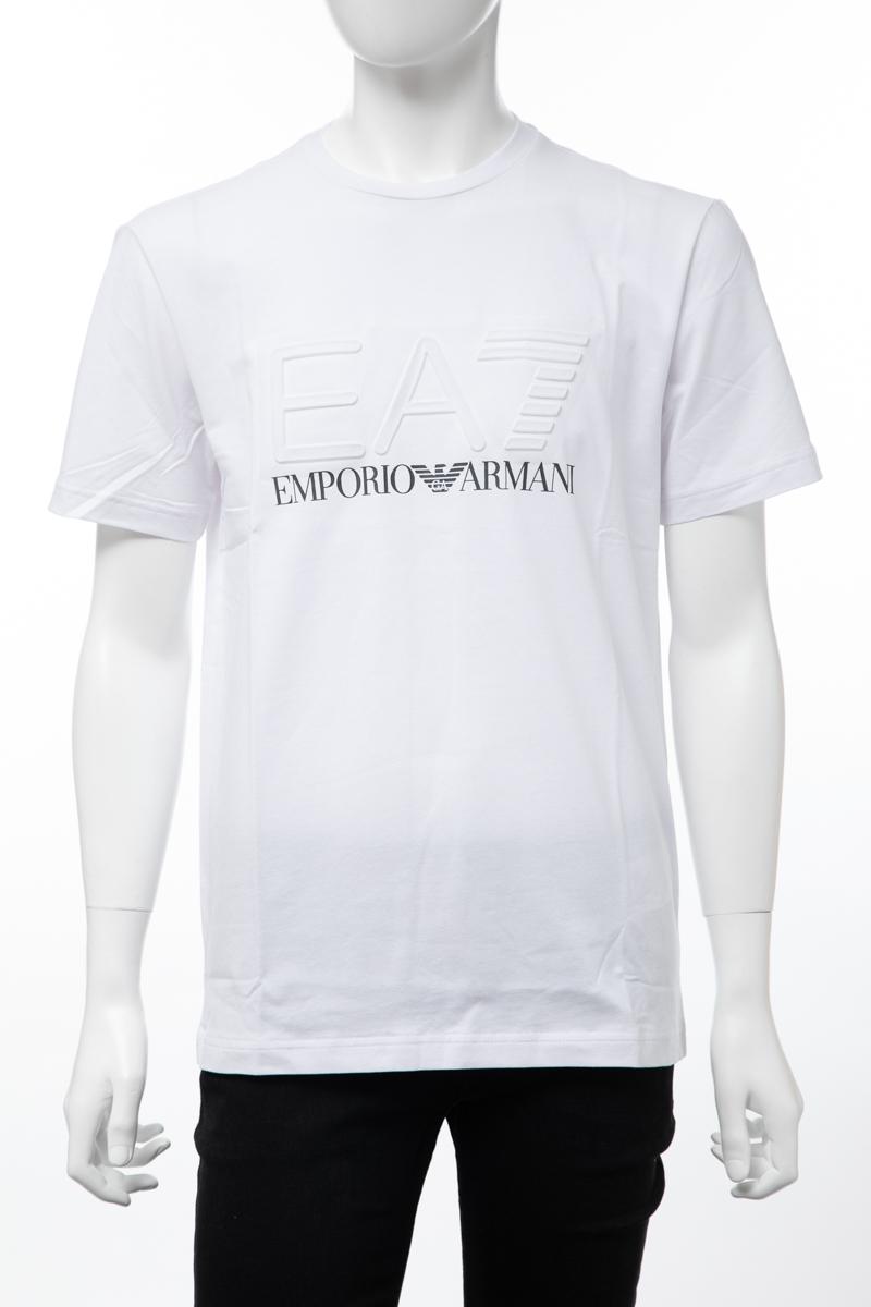 アルマーニ エンポリオアルマーニ Emporio Armani EA7 Tシャツ 半袖 丸首 クルーネック メンズ 3GPT04 PJ03Z ホワイト 送料無料 楽ギフ_包装 【ラッキーシール対応】