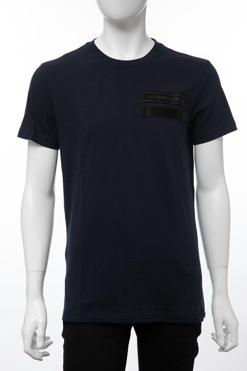 ディーゼル DIESEL Tシャツ 半袖 丸首 クルーネック T-PATROL MAGLIETTA メンズ 00S2MV 0IAPR ネイビー 送料無料 楽ギフ_包装 【ラッキーシール対応】