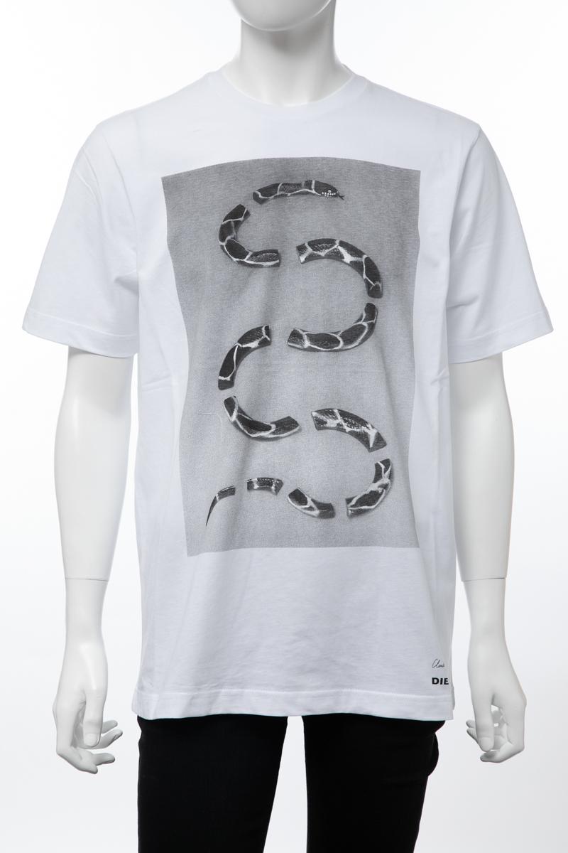 ディーゼル DIESEL Tシャツ 半袖 丸首 クルーネック T-JUST-SP MAGLIETTA メンズ 00SD4T 0EADQ ホワイト 楽ギフ_包装 【ラッキーシール対応】