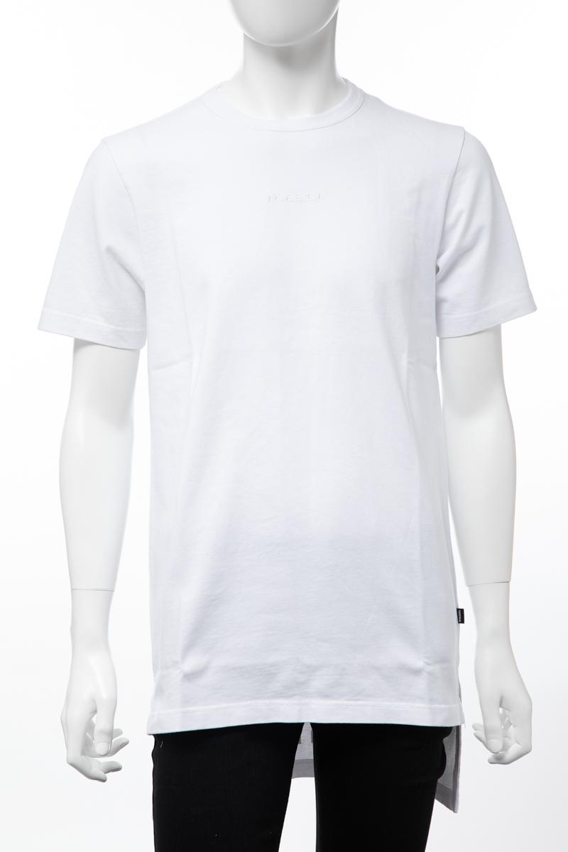 ディーゼル DIESEL Tシャツ 半袖 丸首 クルーネック T-GULLER MAGLIETTA メンズ 00SIEN 0GATD ホワイト 送料無料 楽ギフ_包装 【ラッキーシール対応】