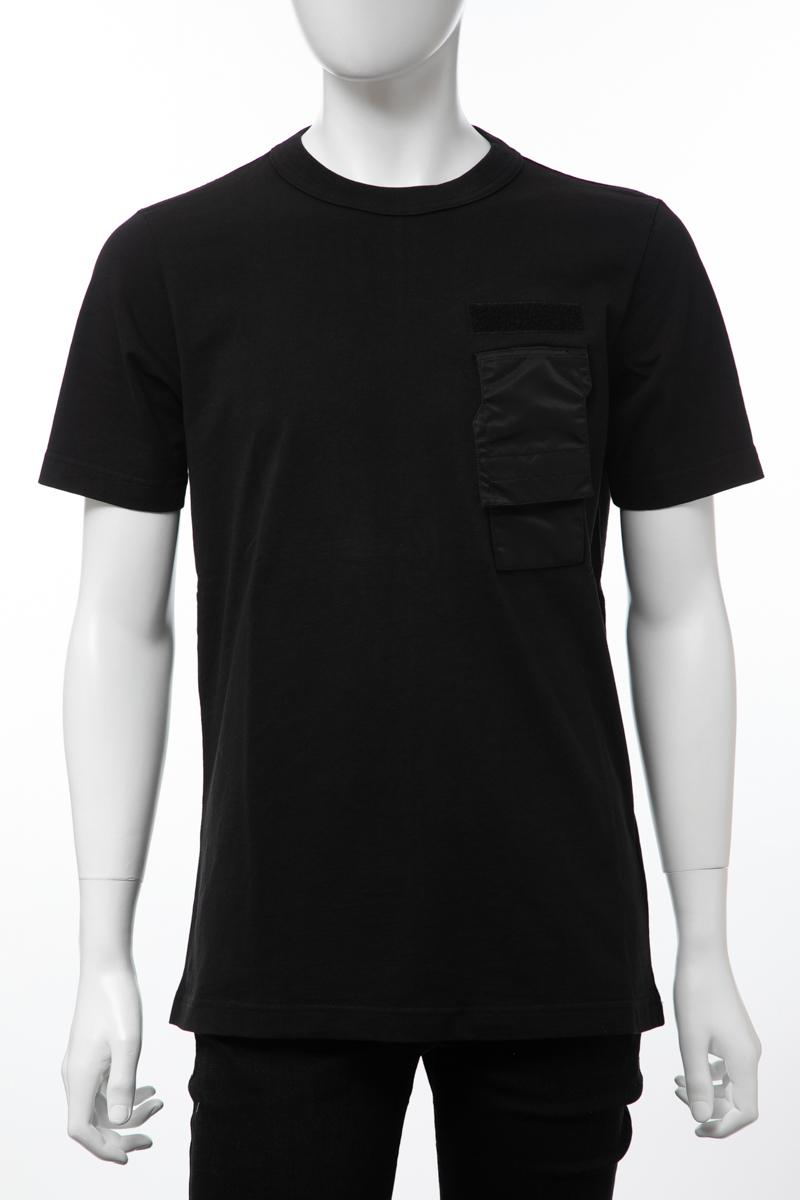 ディーゼル DIESEL Tシャツ 半袖 丸首 クルーネック T-WALLET MAGLIETTA メンズ 00SIEQ 0IASX ブラック 送料無料 楽ギフ_包装 【ラッキーシール対応】