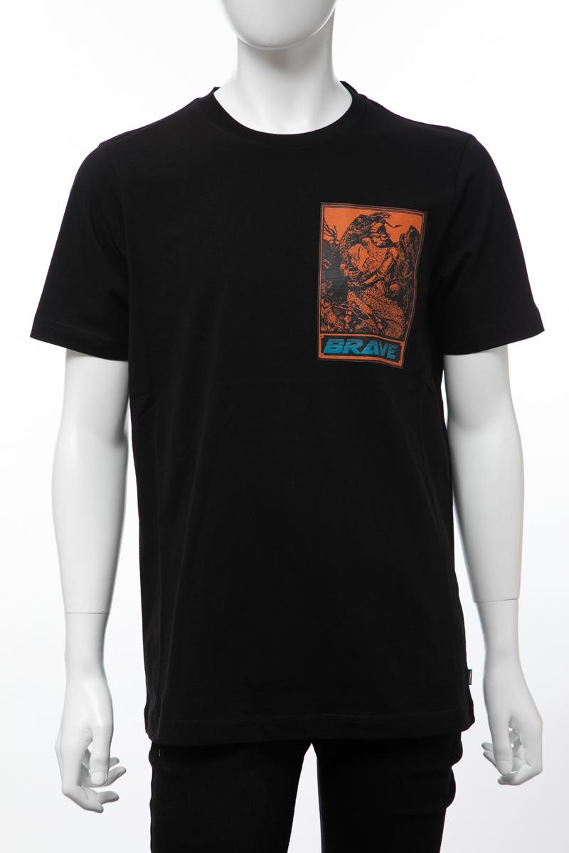 ディーゼル DIESEL Tシャツ 半袖 丸首 クルーネック T-JUST-XL MAGLIETTA メンズ 00SJ2L 0BASU ブラック 楽ギフ_包装 【ラッキーシール対応】