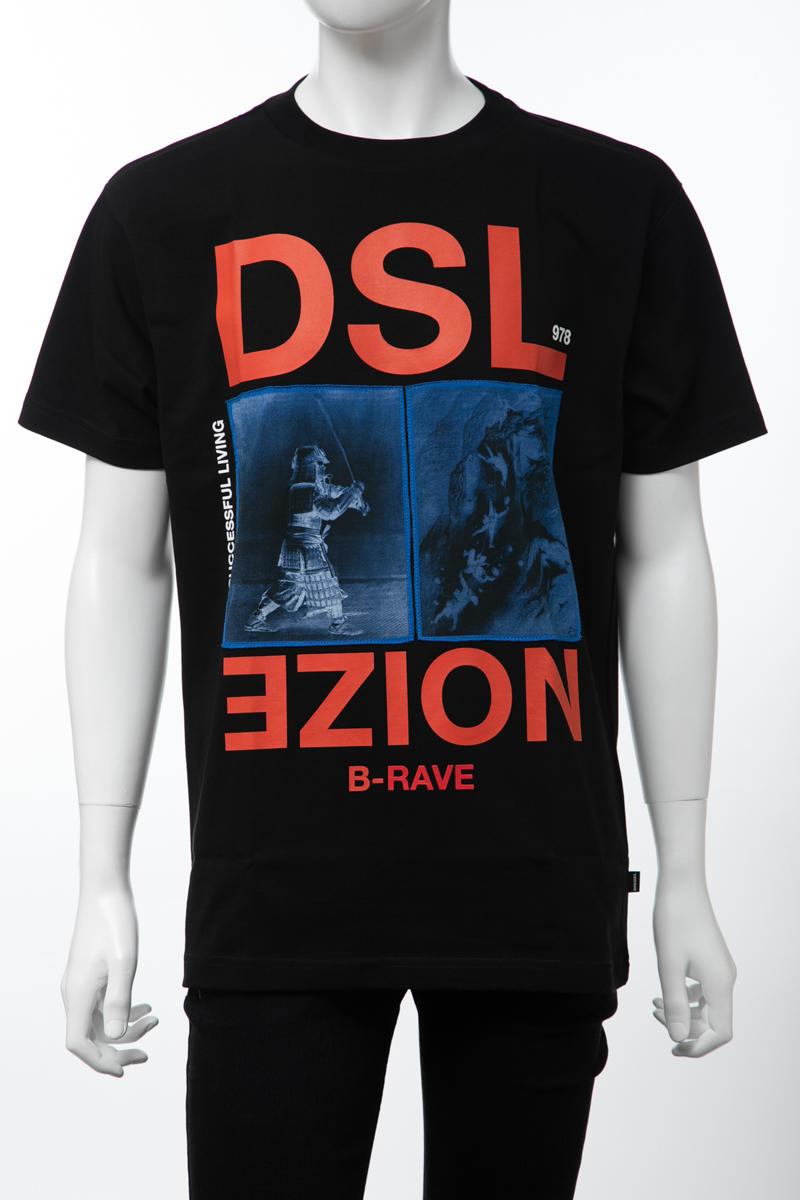 ディーゼル DIESEL Tシャツ 半袖 丸首 クルーネック T-WALLACE-XC MAGLIETTA メンズ 00SJ2Y 0PATI ブラック 送料無料 楽ギフ_包装 【ラッキーシール対応】