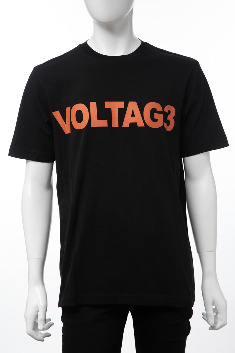 ディーゼル DIESEL Tシャツ 半袖 丸首 クルーネック T-JUST-X1 MAGLIETTA メンズ 00SJ65 0CATM ブラック 楽ギフ_包装 【ラッキーシール対応】