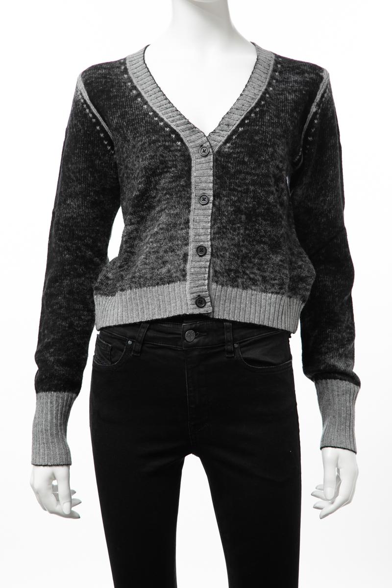 ディーゼル DIESEL セーター カーディガン ニット M-BUSTY CARDIGAN レディース 00SIML 0LASS ブラック 送料無料 楽ギフ_包装