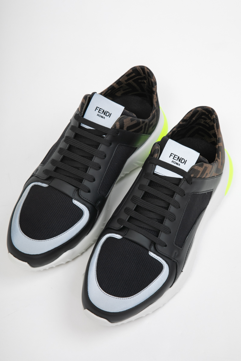 フェンディー FENDI スニーカー ローカット シューズ 靴 メンズ 7E1237 A7M7 ブラック 送料無料 2019年秋冬新作