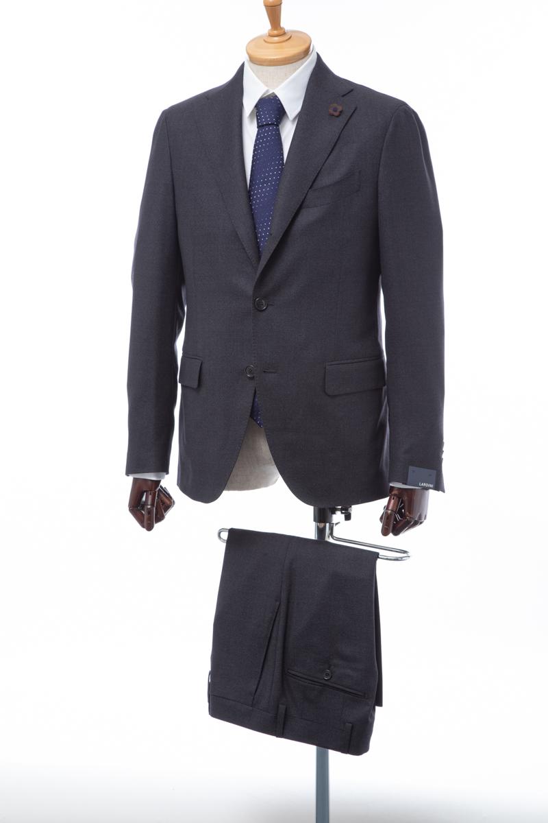 ラルディーニ LARDINI スーツ シングル サイドベンツ メンズ ラルディーニ LARDINI スーツ シングル サイドベンツ ノッチドラペル 3つボタン 2ピース バーズアイ メンズ IL0423AE 49471 ダークグレー 送料無料 【ラッキーシール対応】