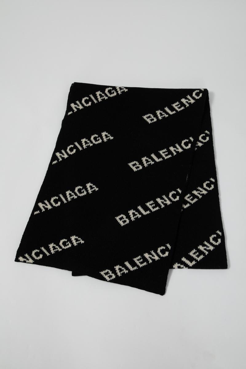 バレンシアガ BALENCIAGA マフラー ストール 558951 T1471 ブラック 送料無料 楽ギフ_包装 2019年秋冬新作