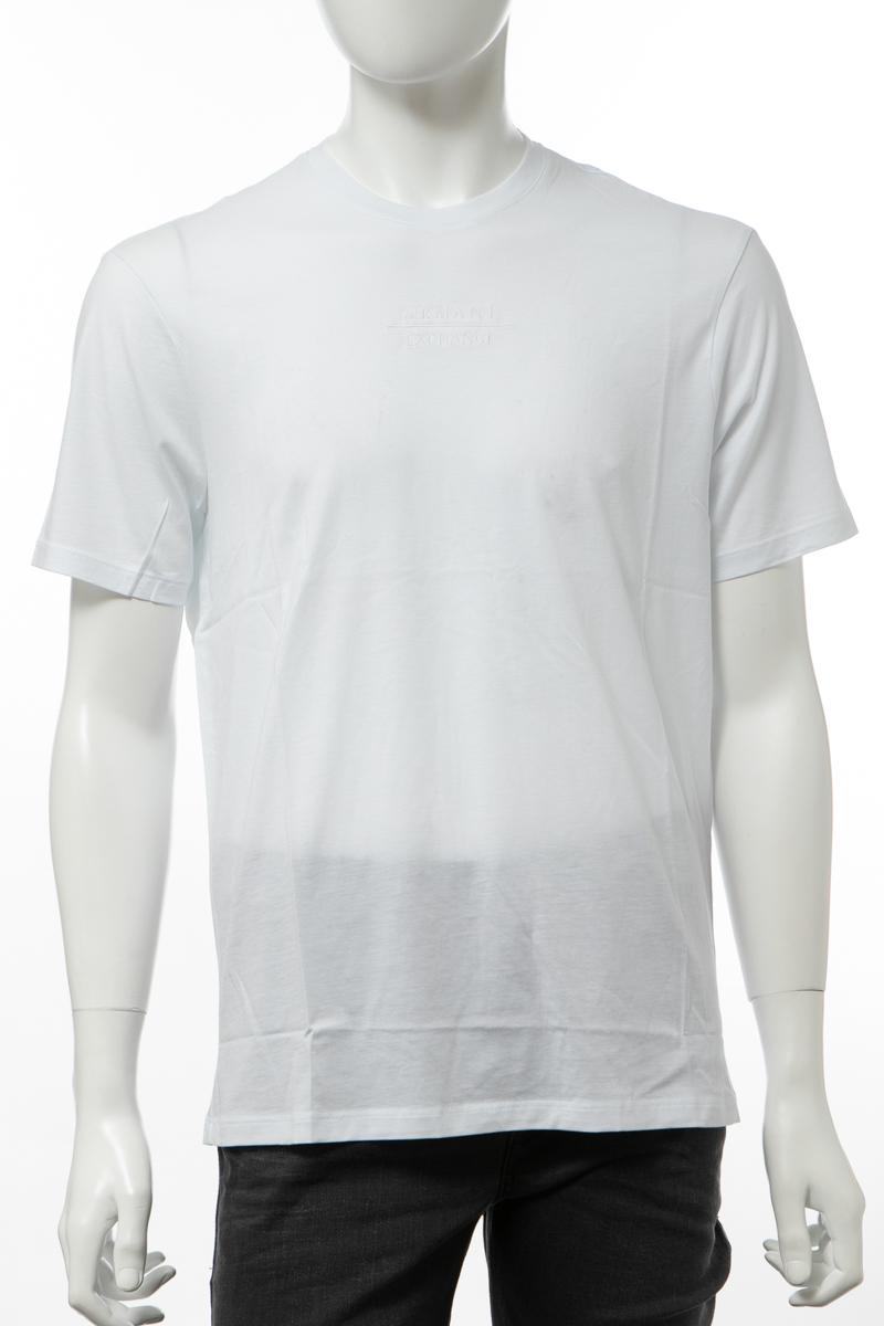 アルマーニ エクスチェンジ ARMANI EXCHANGE Tシャツ 半袖 Vネック メンズ 6GZTBZ ZJA5Z ホワイト 送料無料 楽ギフ_包装 【ラッキーシール対応】 2019年秋冬新作
