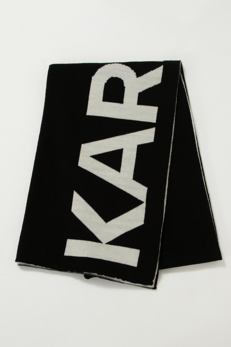 カールラガーフェルド KARL LAGERFELD マフラー 96KW3308 ブラック 送料無料 楽ギフ_包装 2019年秋冬新作 【ラッキーシール対応】
