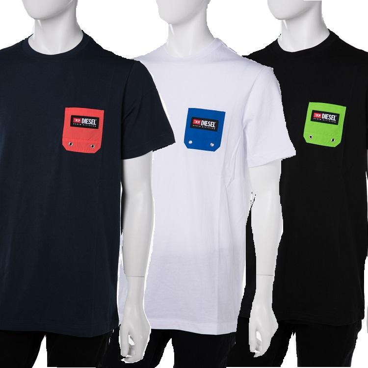 ディーゼル DIESEL Tシャツアンダーウェア Tシャツ 半袖 丸首 クルーネック メンズ 00ST5I 0NAVJ 送料無料 楽ギフ_包装 【ラッキーシール対応】