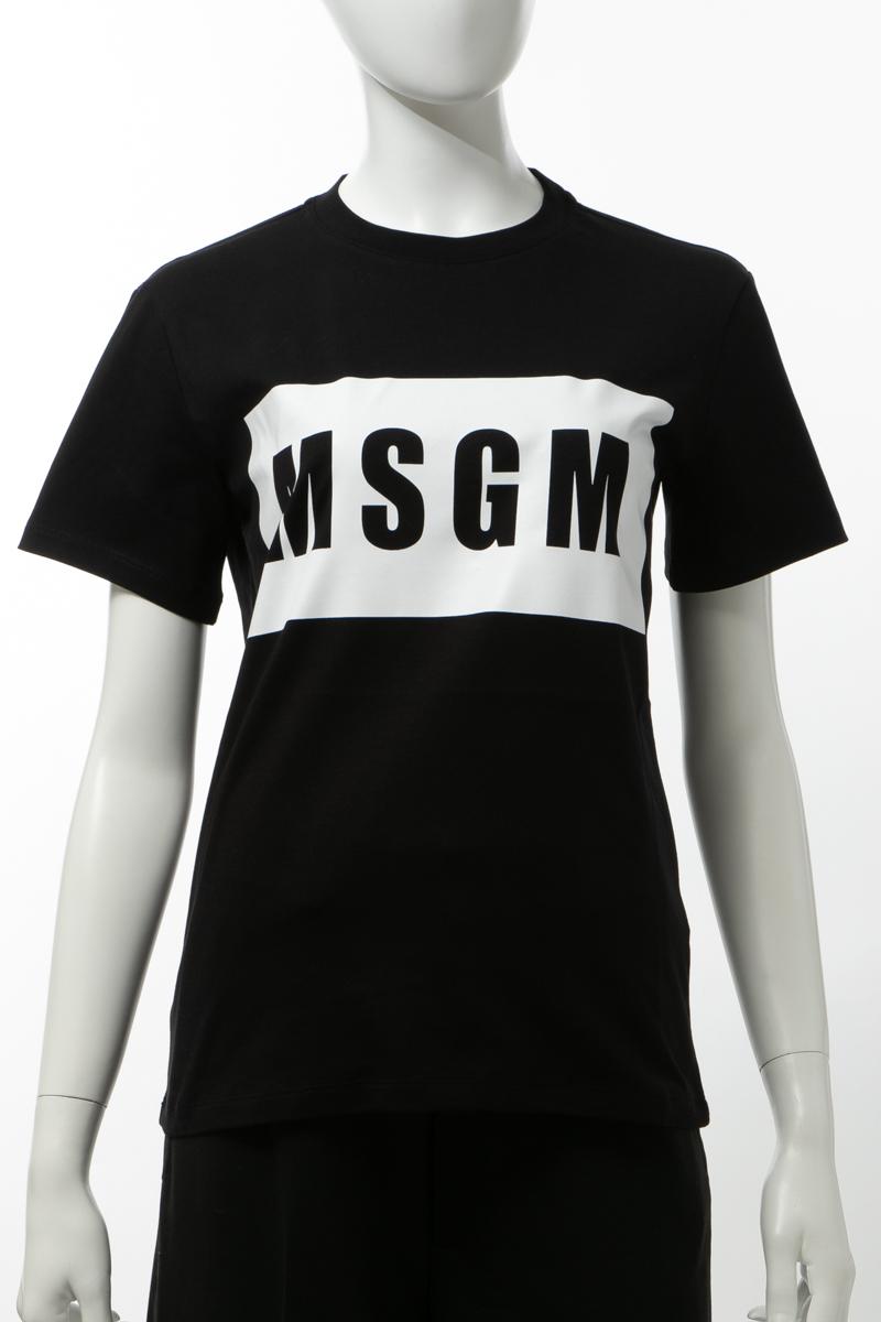 エムエスジーエム MSGM Tシャツ 半袖 丸首 クルーネック レディース 2841MDM95207298 ブラック 送料無料 楽ギフ_包装 2020年春夏新作