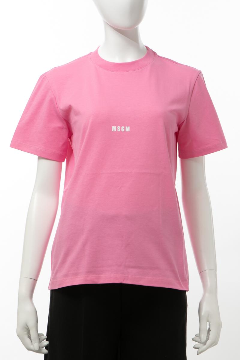 エムエスジーエム MSGM Tシャツ 半袖 丸首 クルーネック レディース 841MDM100207298 ピンク 送料無料 楽ギフ_包装 2020年春夏新作
