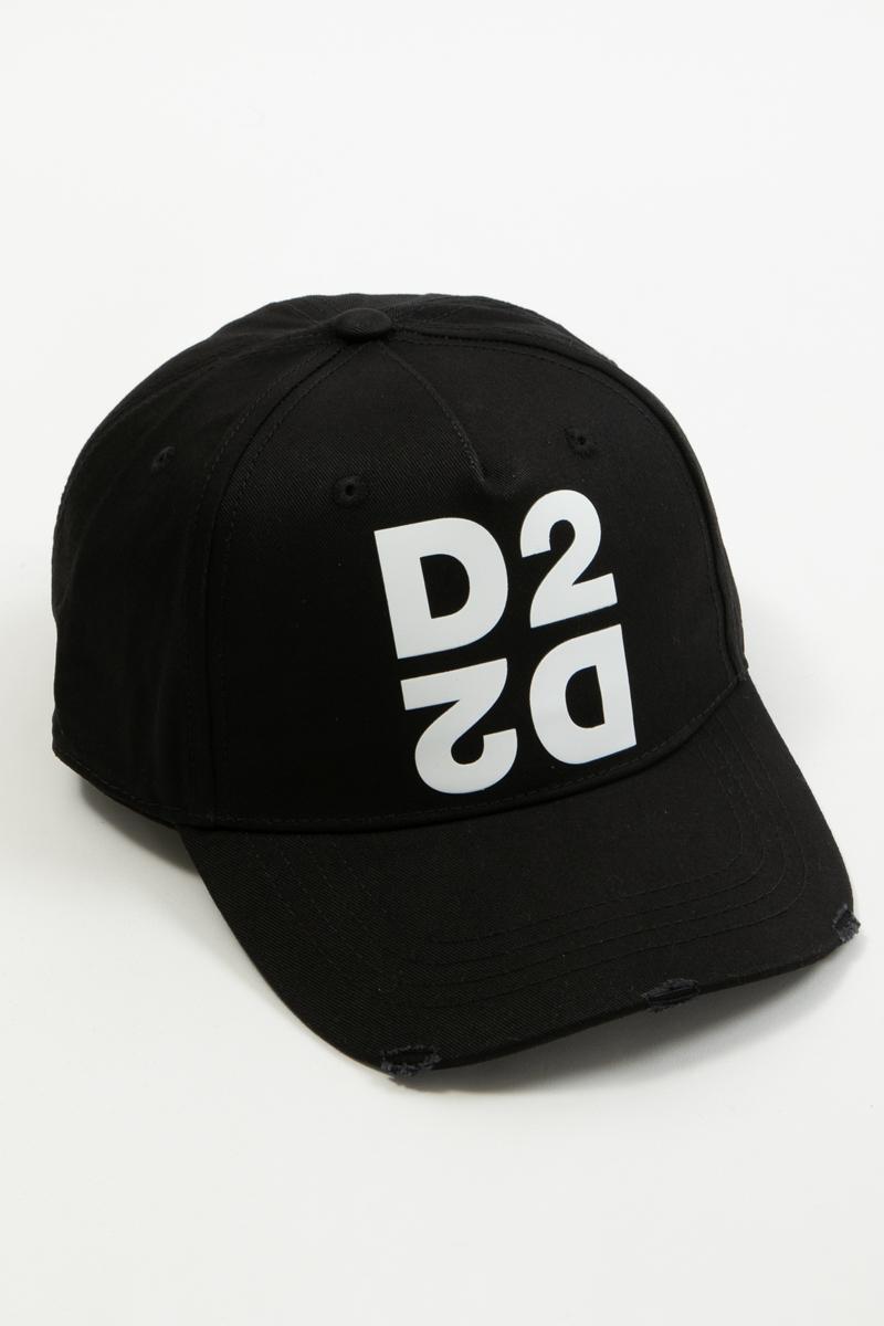 ディースクエアード DSQUARED2 キャップ ベースボールキャップ 帽子 BCM026505C00001 ブラック 送料無料 楽ギフ_包装 【ラッキーシール対応】 2020年春夏新作