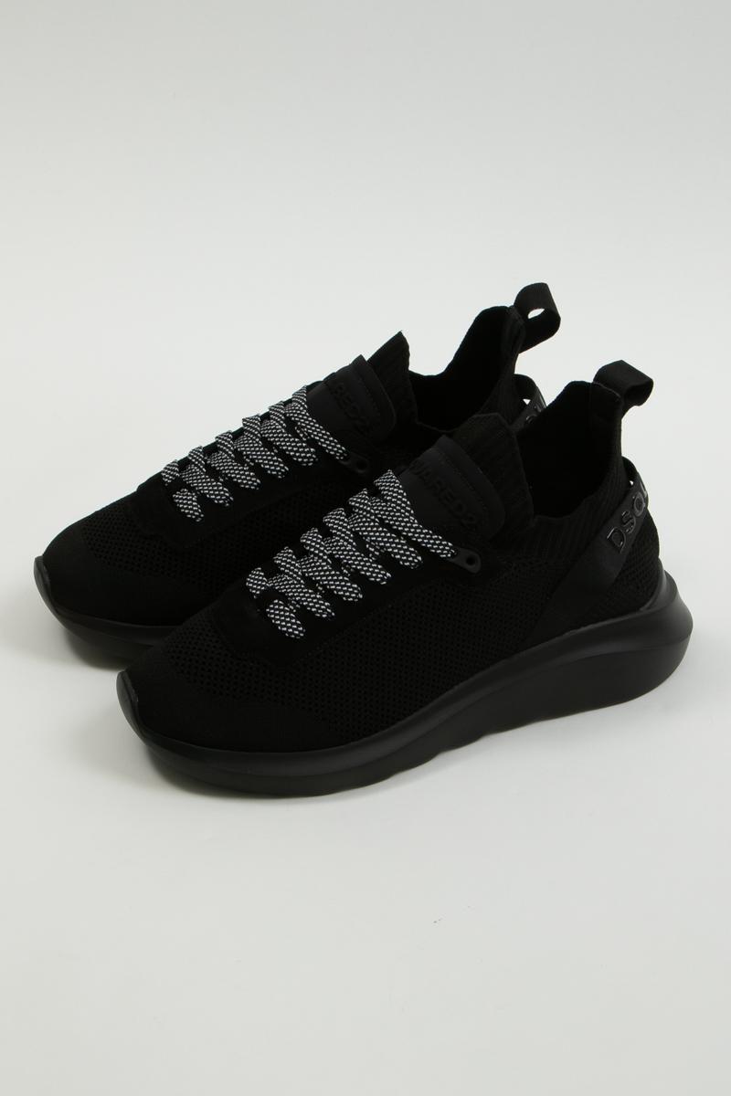 ディースクエアード DSQUARED2 スニーカー ローカット シューズ 靴 メンズ SNM007459202581 ブラック 送料無料 楽ギフ_包装 2020年春夏新作
