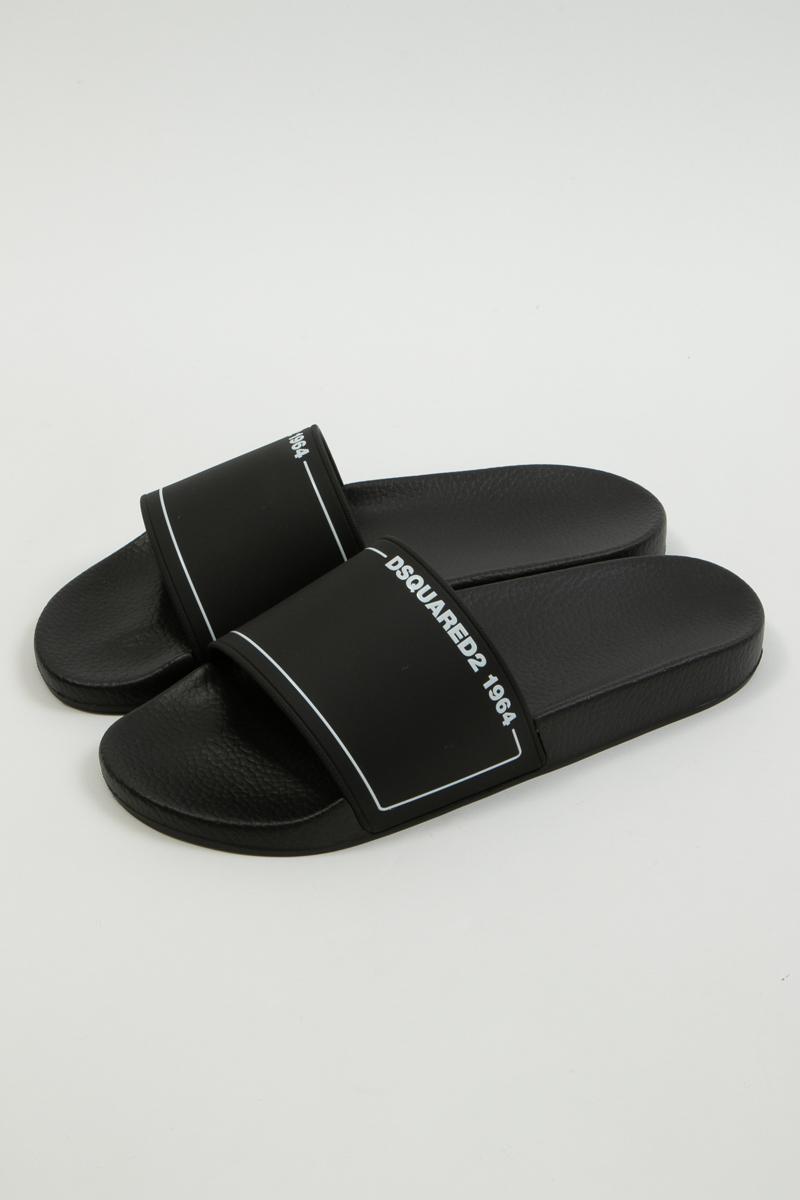 ディースクエアード DSQUARED2 サンダル シャワーサンダル 靴 メーカー公式ショップ メンズ ブラック 激安通販ショッピング 楽ギフ_包装 2020年春夏新作 送料無料 FFM000617200001 2020SS_SALE