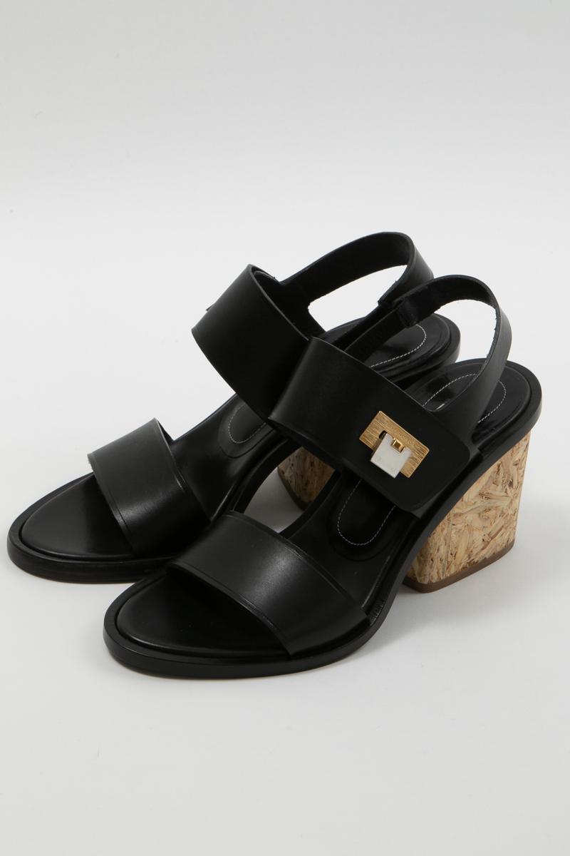 バレンシアガ BALENCIAGA サンダル 靴 レディース 349328 WATD2 ブラック 送料無料 楽ギフ_包装