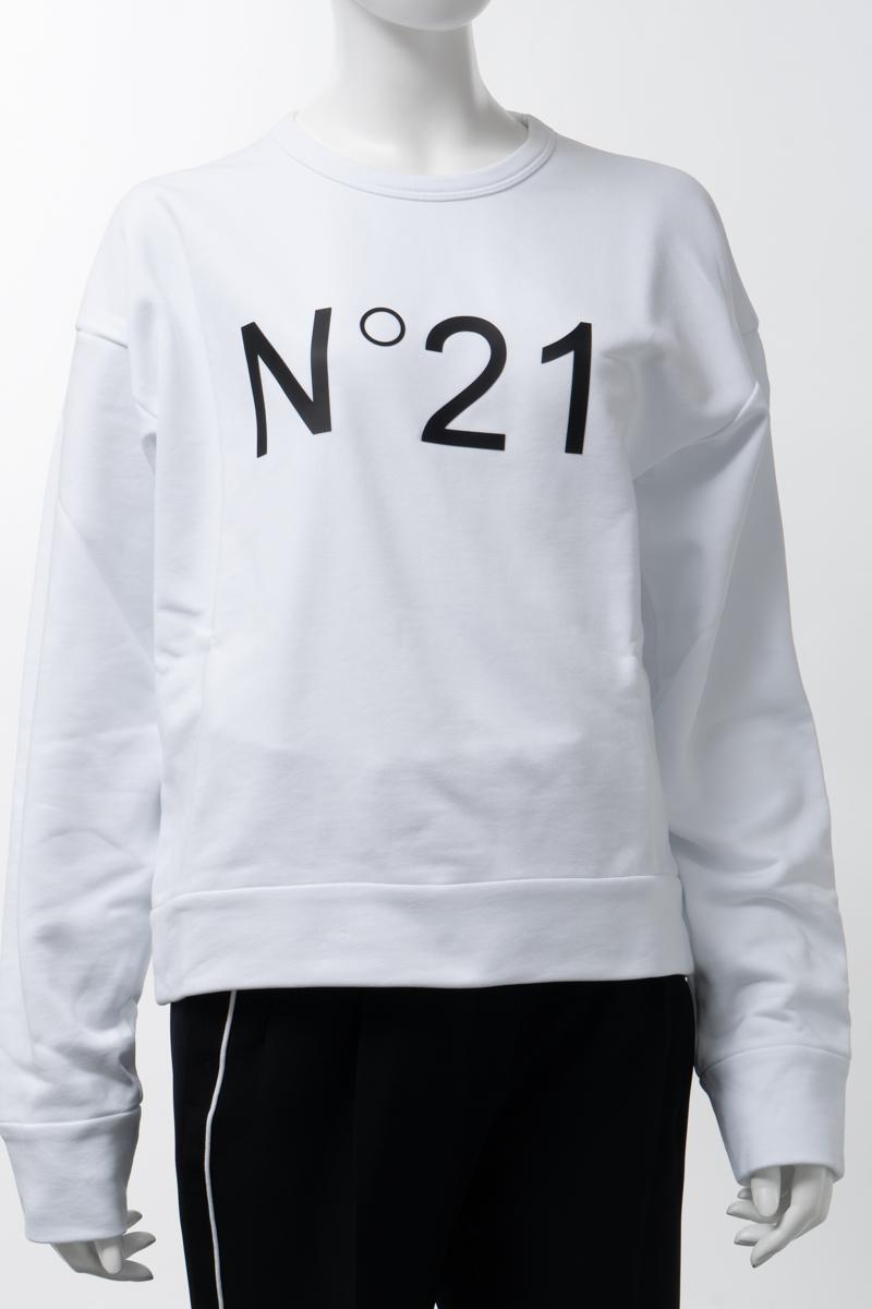 ヌメロヴェントゥーノ N°21 トレーナー スウェット プルオーバー レディース E031 6313 ホワイト 送料無料 楽ギフ_包装 2020年春夏新作 2020SS_SALE