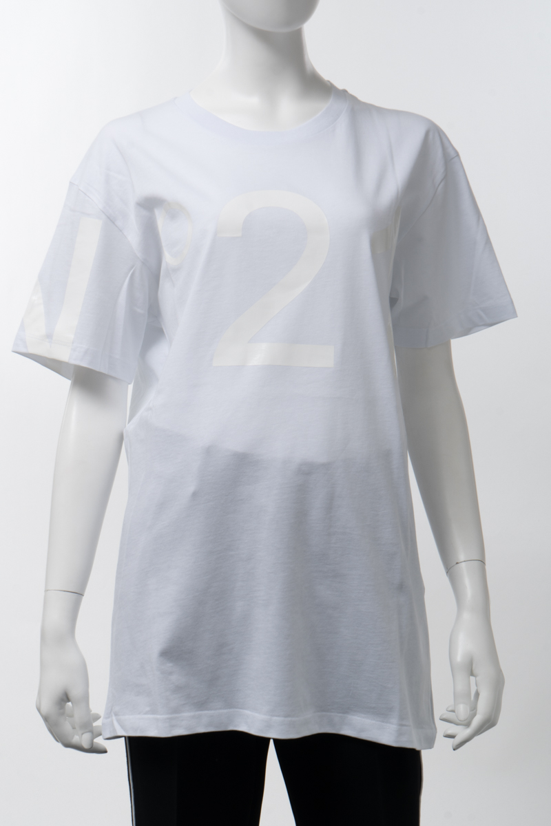 ヌメロヴェントゥーノ N°21 Tシャツ 半袖 丸首 クルーネック オーバーサイズ レディース F056 6316 ホワイト 送料無料 楽ギフ_包装 2020年春夏新作 2020SS_SALE