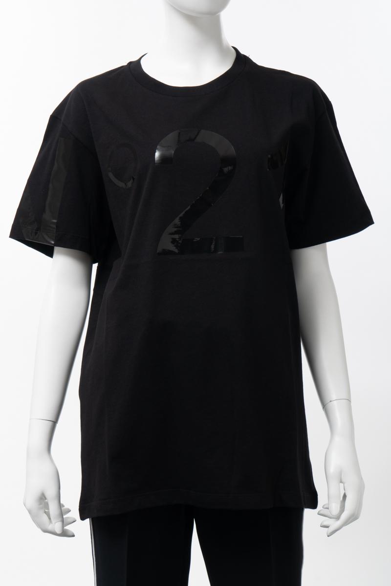 ヌメロヴェントゥーノ N°21 Tシャツ 半袖 丸首 クルーネック オーバーサイズ レディース F056 6316 ブラック 送料無料 楽ギフ_包装 2020年春夏新作